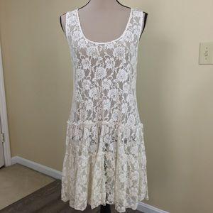 A'Reve Anthropologie Lace Bohemian Festival Dress